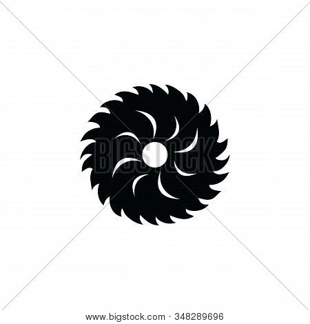 Circular Saw Icon. Circular Saw Icon Vector Flat Illustration For Graphic And Web Design Isolated On