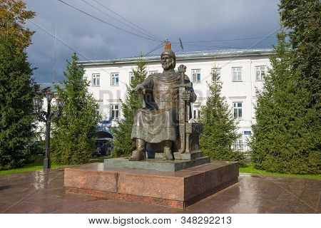 Kostroma, Russia - September 16, 2016: Monument To The Founder Of Kostroma - Prince Yuri Dolgoruky C