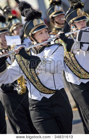 Marching Band Member in Arizona Parade