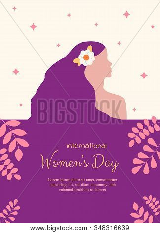 8 march, womans day, womens day background, womens day banners, womens day flat, Copy space text area, vector illustration. 8 march, womans day, women's day background, women's day banners, womens day flyer, women's day design, women's day with flowers on