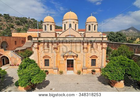 The Monastery Of Agia Triada, Akrotiri Peninsula, Western Crete. Greece.