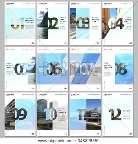 Creative Brochure Templates With Numbers. Easy To Edit And Customize. Covers Design Templates For Fl