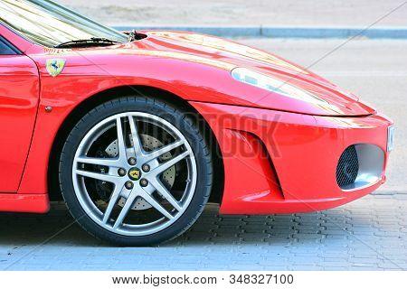 Warsaw, Poland. 5 May 2018. Ferrari 488 Gtb. The Ferrari 488 Is An Italian Sports Car Produced