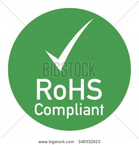 Rohs Compliant Sign Illustration With A White Background