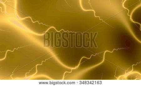 Fractal Golden Lights In Space Mettalic Colors