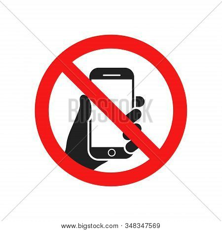 Vector Illstration Of N Phone Use Icon. Flat Design. Isolated.