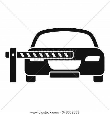Car Parking Barrier Icon. Simple Illustration Of Car Parking Barrier Vector Icon For Web Design Isol
