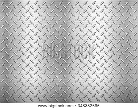 Diamond Sheet Metal Texture Background. Vector Illustration.