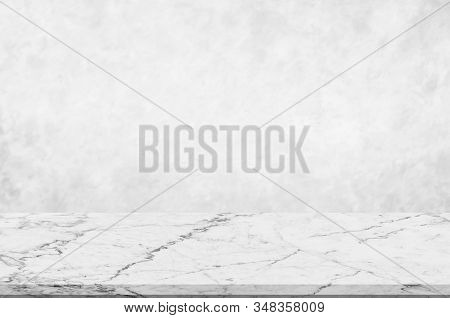 Counter Top,perspective White Marble With Blurred White Or Light Grey Marble Stone Natural Texture B