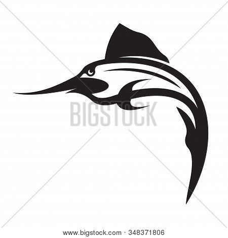 Illustration Of Vector Silhouette Of A Swordfish