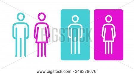 Wc Sign Icon. Toilet, Restroom, Washroom Symbol Vector