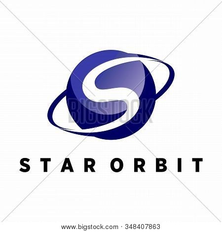 Planetary Design Which Also Contains The Letter S Which Can Be Used As A Logo Or Symbol