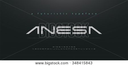 Abstract Technology Space Font And Alphabet. Techno And Fashion Fonts Designs. Typography Digital Sc