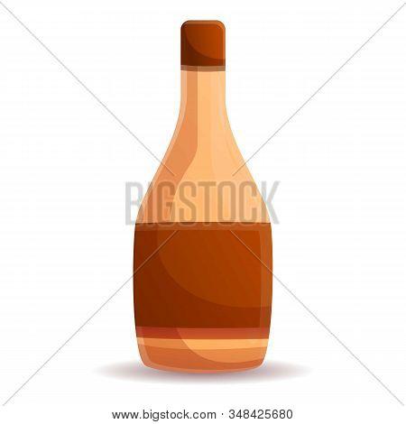 Vinegar Bottle Icon. Cartoon Of Vinegar Bottle Vector Icon For Web Design Isolated On White Backgrou