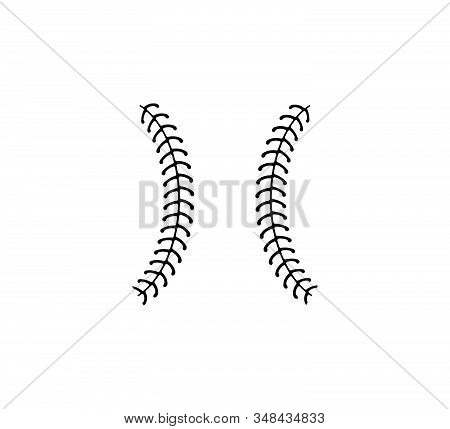 Baseball Softball Ball Stitch Vector Graphic Design
