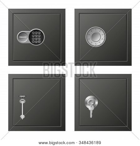 Deposit Icons Set. Realistic Set Of Deposit Vector Icons For Web Design Isolated On White Background