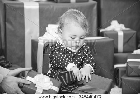 Gifts For Child First Christmas. Celebrate First Christmas. Sharing Joy Of Baby First Christmas With