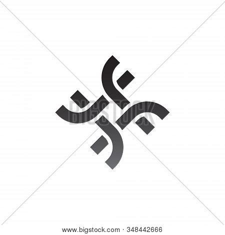 J Letter Logo Monogram Design Element Typeface Type Vintage Sign Emblem Typeset Combination Luxury C