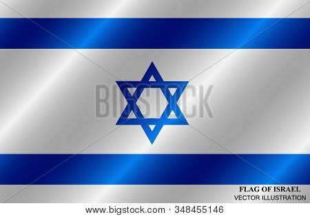 Bright Background With Flag Of Israel. Independence Day Of Israel Background. Bright Illustration Wi