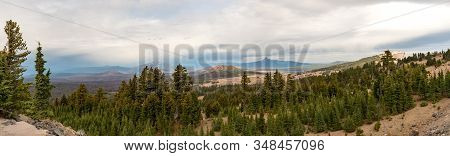 Panoramic View Of The Landscape From One Of The Highest Points Of Crater Lake, Oregon, Usa