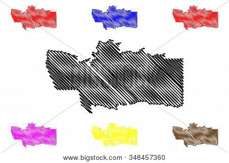 Hardap Region (regions Of Namibia, Republic Of Namibia) Map Vector Illustration, Scribble Sketch Har
