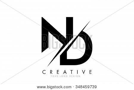 Nd N D Letter Logo Design With A Creative Cut. Creative Logo Design.