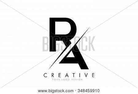 Ra R A Letter Logo Design With A Creative Cut. Creative Logo Design..