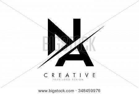 Na N A Letter Logo Design With A Creative Cut. Creative Logo Design..