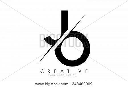 Jo J O Letter Logo Design With A Creative Cut. Creative Logo Design..
