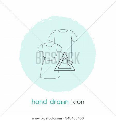 Reuse Clothes Icon Line Element. Vector Illustration Of Reuse Clothes Icon Line Isolated On Clean Ba