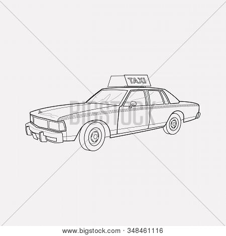 Taxi Cab Icon Line Element. Vector Illustration Of Taxi Cab Icon Line Isolated On Clean Background F