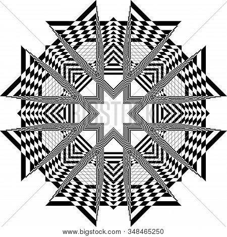 Abstract Arabesque Church Like Ceiling Structure Bblack On Transparent Background Designer Cut