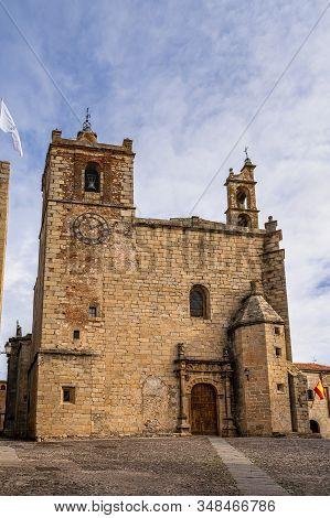 Saint Matthew Church, Iglesia De San Mateo In Caceres, Extremadura, Spain