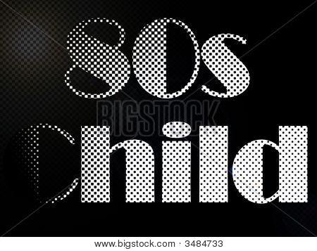 Psychodelic 80S Child Led Light Text