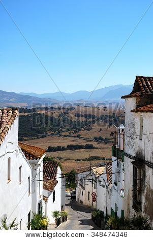 Jimena De La Frontera - August 01, 2008 - Town Street With Views Over The Countryside, Jimena De La