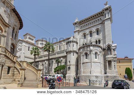 Monaco City, Monaco - 07 July, 2015: View Of Saint Nicholas Cathedral In Monaco Ville