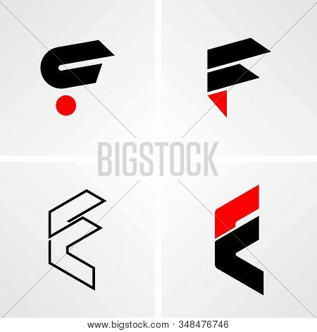 4 Types Of F Design Letters In Black And Red