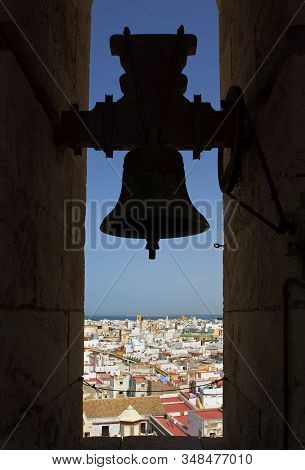The Belfry.  The City Of Cadiz Viewed From The Belfry In The Poniente (west) Tower Of Cadiz Cathedra