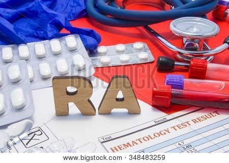 Ra Use By Doctors Medical Abbreviation Meaning Rheumatoid Arthritis, Frequent Joint Disease, Its Dia