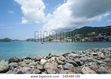 The View Of Long Bay With Charlotte Amalie Town In A Background On St. Thomas Island (u.s.virgin Isl