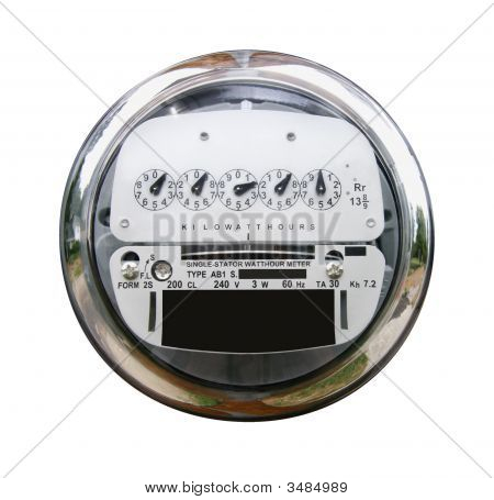 Electric Meter with Clipping Path