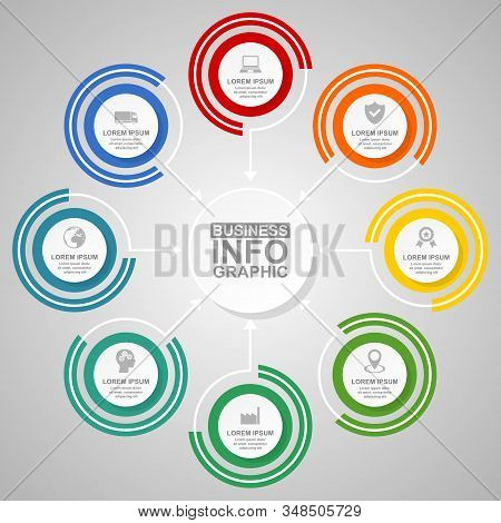 Business Infographic Vector Template, Industry, Transport And Technology Concept Illustration For Pr
