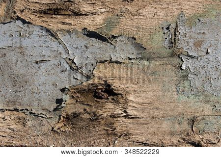 Old Wood Texture Background, Texture Wooden Background Of Wooden Painted Texture Surface With Peelin