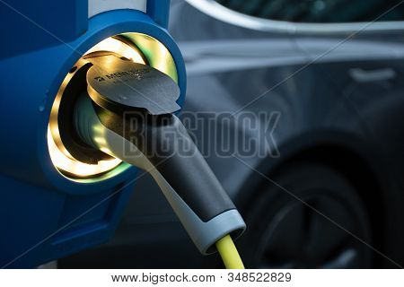 Electric Vehicle Charging Station, Ev Charging Station, Electric Recharging Point, Charging Point, C