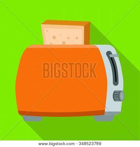 Vector Illustration Of Toaster And Toast Symbol. Graphic Of Toaster And Bread Vector Icon For Stock.