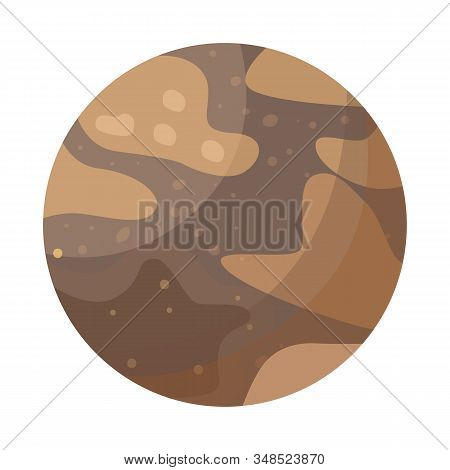 Isolated Object Of Pluto And Nasa Symbol. Web Element Of Pluto And Nebula Vector Icon For Stock.