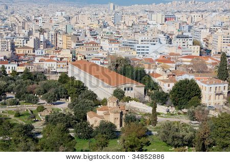 View Of Athens From Aeropagus Hill, Greece