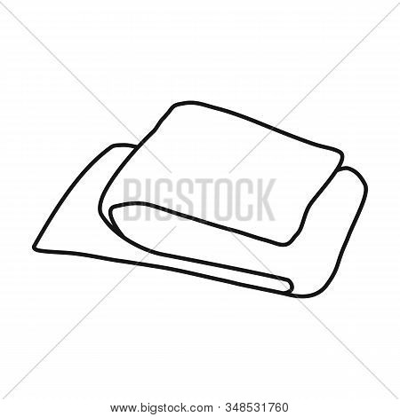 Scarf Vector Icon.outline, Line Vector Icon Isolated On White Background Scarf .