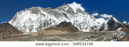 Mount Lhotse And Nuptse South Rock Face - Way To Everest Base Camp, Three Passes Trek, Everest Area,