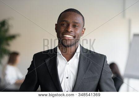 Headshot Portrait African Ethnicity Head Of Sales Department Representative